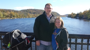 Brent and I on the New Hope-Lambertville Bridge on the Delware River.