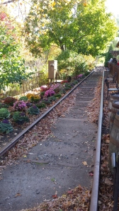 An old train track in New Hope.