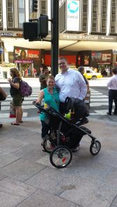 My family in front of Madison Square Garden.