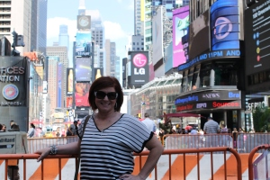 My mom in the Big Apple!