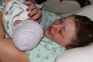 The first time I got to hold my son, Grayson. This was the best feeling and moment in my life.